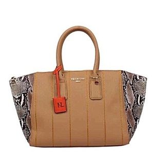 ✤ Emerson Faux-Snakeskin Tote Bag